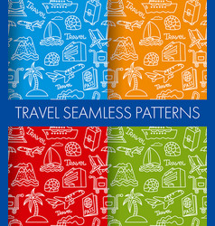 color travel patterns background vector image