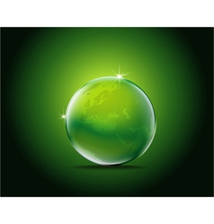 Icon green earth vector