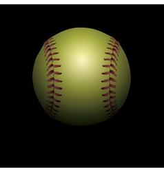 Softball on black vector