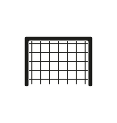 The Football gate icon Soccer symbol Flat vector image