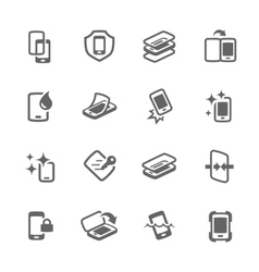 Simple smart cover icons vector