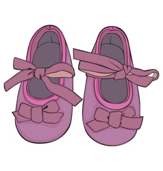 of a pair of baby shoes vector image