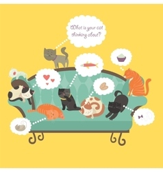 Funny cats with Speech Bubble vector image