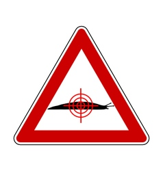 Aim at slugs warning sign vector