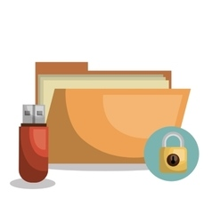 Data storage design vector