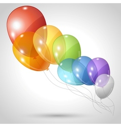 flying balloons background vector image
