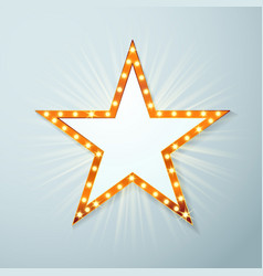 bright light bulb cinema star symbol layout vector image