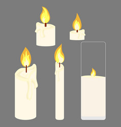 bulk granulated candles vector image vector image