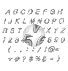 Calligraphic black watercolor alphabet vector
