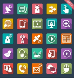 Communication icons- flat design vector image vector image