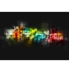 Dark shiny tech abstract background vector