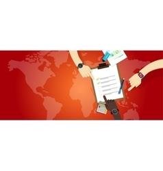 Emergency plan team work management preparation vector