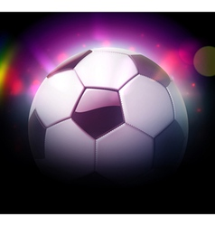 football or soccer ball vector image vector image