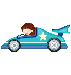girl driving a car vector image