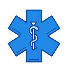 health care symbol line icon vector image vector image
