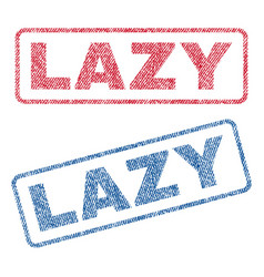 Lazy textile stamps vector