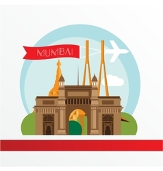Mumbai detailed silhouette trendy vector