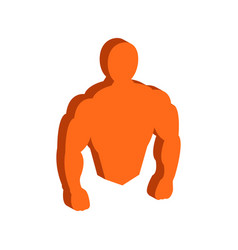 muscle body bodybuilding fitness symbol flat vector image