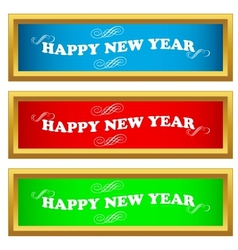 New year set vector image