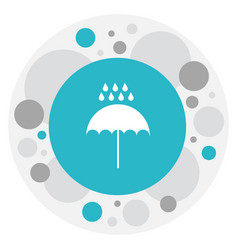 Of weather symbol on monsoon vector