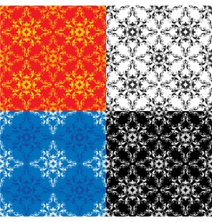 Set of 4 different colors seamless textures vector image vector image
