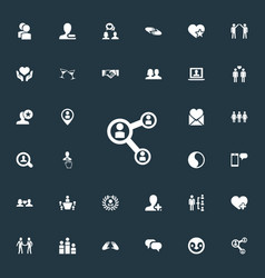 Set of simple mates icons elements message vector
