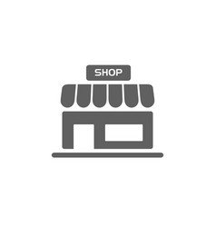 Shop icon on a white background vector