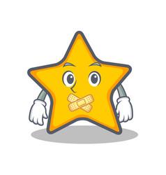 Silent star character cartoon style vector