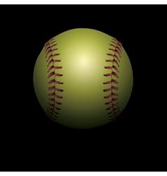 Softball on black vector