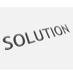 Solution text design vector