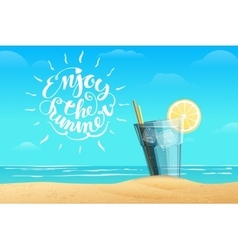 Summer lemonade in the glass vector image