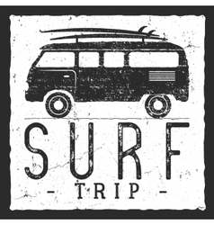 Surf trip concept summer surfing retro vector