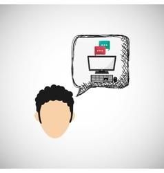 Technology design media icon colorful vector