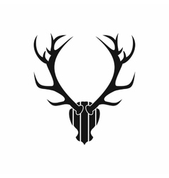Deer antler icon simple style vector