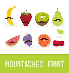 Moustached fruit vector