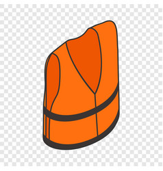 Life jacket isometric icon vector