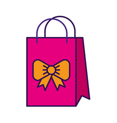Cute gift bag cartoon vector