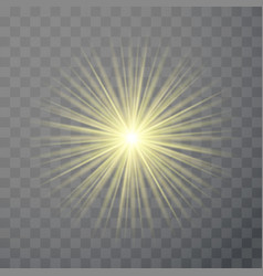 Bright light flare flash effect template isolated vector