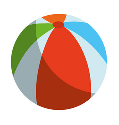 beach ball isolated vector image