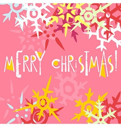 Christmas greeting card postcard editable template vector