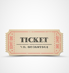 Vintage ticket vector