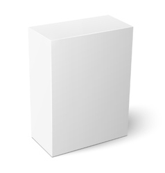 White vertical paper box template vector