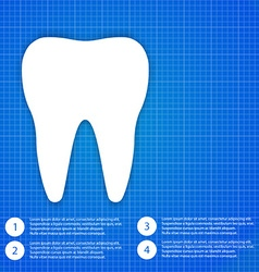 One white tooth vector