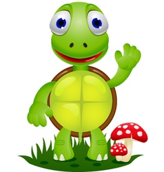 Friendly turtle cartoon vector