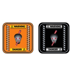 Warning sign danger vector