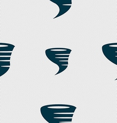 Tornado icon seamless abstract background with vector