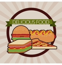 Delicious and good foodesign vector
