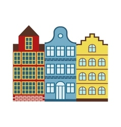 European houses vector