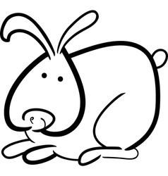 Cartoon bunny for coloring book vector
