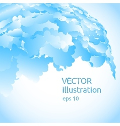 abstract background of blue blobs vector image